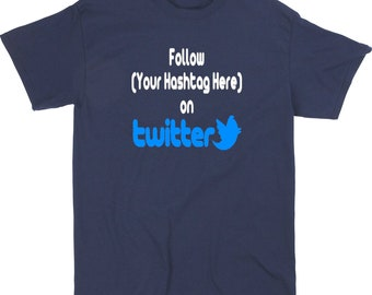 Social Media Twitter Follow Hashtag # @ Snapchat Instagram YouTube Custom Funny T Shirt Clothes Many Sizes Colors Custom Merch Massacre