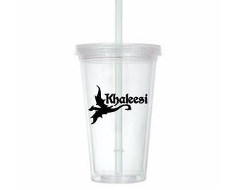 Khaleesi Mother of Dragons Game of Thrones Horror Tumbler Cup Gift Home Decor Gift for Her Him Any Color Personalized Custom