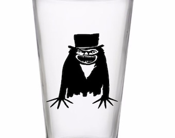 Babadook Horror Pint Wine Glass Tumbler Alcohol Drink Cup Barware Halloween Merch Massacre