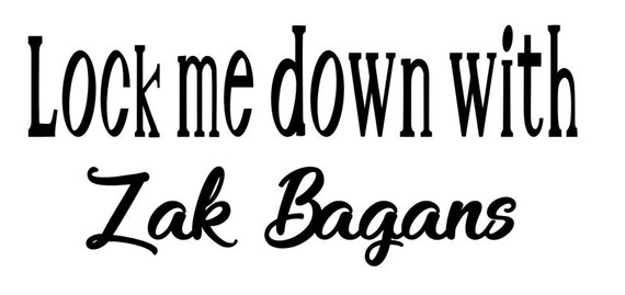 Zak Bagans Quote Decal