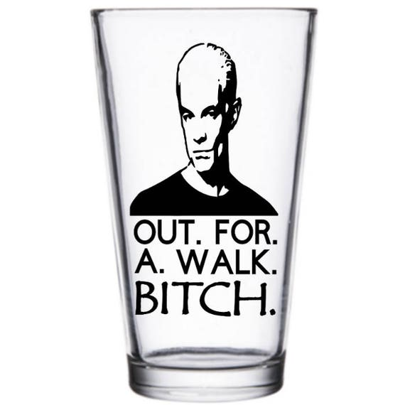 Buffy the Vampire Slayer Spike fuori per una pinta di cagna a piedi vino bicchiere Tumbler alcool bere tazza Barware Halloween Merch massacro