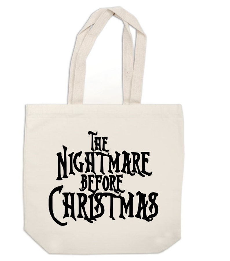 Nightmare Before Christmas Horror Canvas Tote Bag Market Pouch Grocery  Reusable Halloween Merch Massacre Christmas