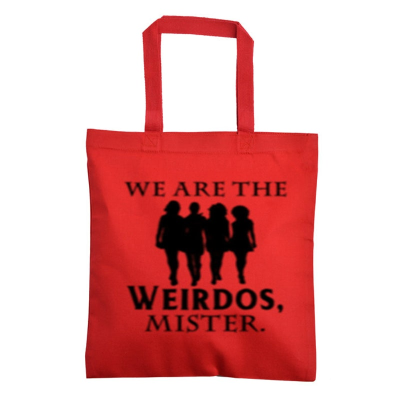 We are the Weirdos Mister The Craft Horror Canvas Tote Bag Market Pouch Grocery Reusable Halloween Merch Massacre Christmas