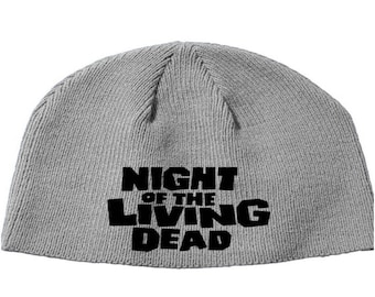 Night of the Living Dead Zombie George Romero Tom Savini  Beanie Knitted Hat Cap Winter Clothes Horror Merch Massacre Christmas Black Friday
