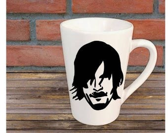 Daryl The Walking Dead Horror Halloween Mug Coffee Cup Gift Home Decor Kitchen Bar Gift for Her Him Any Color Personalized Custom