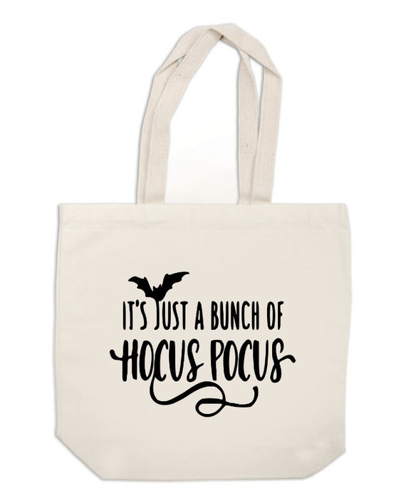 Reusable carrier White Canvas Tote Bag hocus pocus  witches halloween Gift