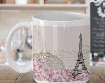 Springtime in Paris Coffee Mug, Gift for Paris lovers