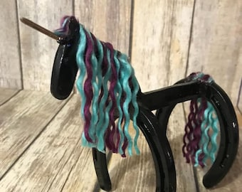 Horseshoe Unicorn Horseshoe Art Home Decor Unique Gift Little Girl Magical Fantasy
