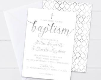 christening invitations etsy