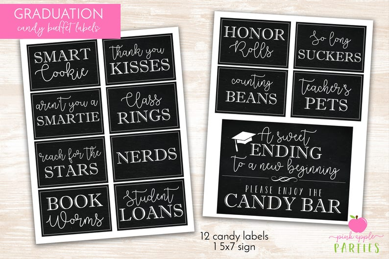 Graduation Candy Labels  Printable Graduation Party  Candy image 0