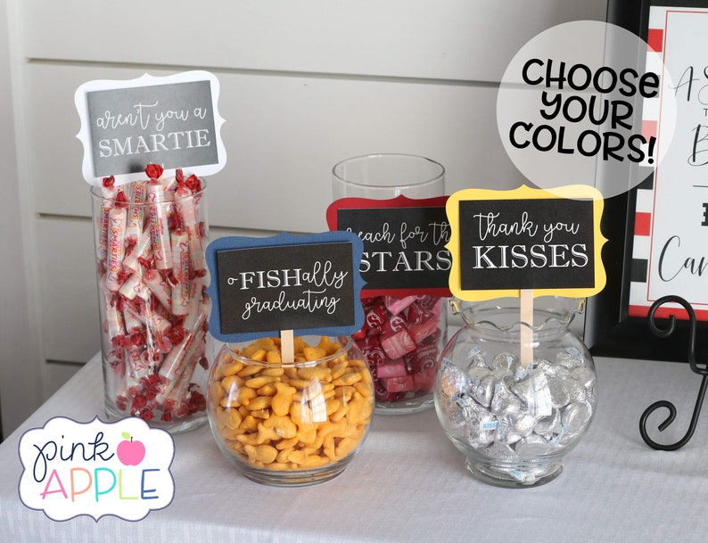 Cool Graduation Candy Labels Graduation Party Decor Grad Candy Bar Graduation 2019 Decorations Sweets Table Candy Buffet Choose Your Colors Home Interior And Landscaping Eliaenasavecom