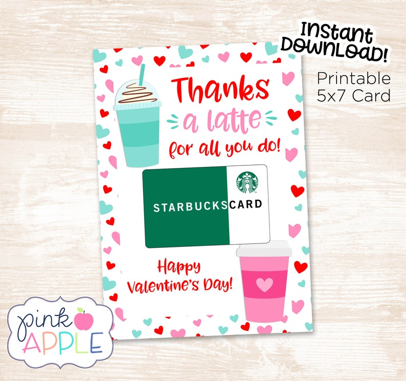 photograph relating to Printable Valentine Cards for Teacher known as Due A Latte Instructor Valentine Card, Espresso Trainer Valentine, Present Card Valentine, Immediate Down load Printable Instructor Card