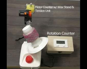 Standard Yarn Ball Winder With Electric Rotation Counter and Meter Length Counter