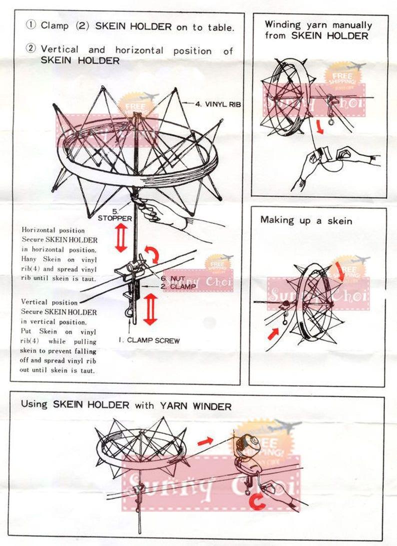 WeaveR Skein Holder Knitting Umbrella Swift Yarn Hank Winder For Wool Yarn Winder