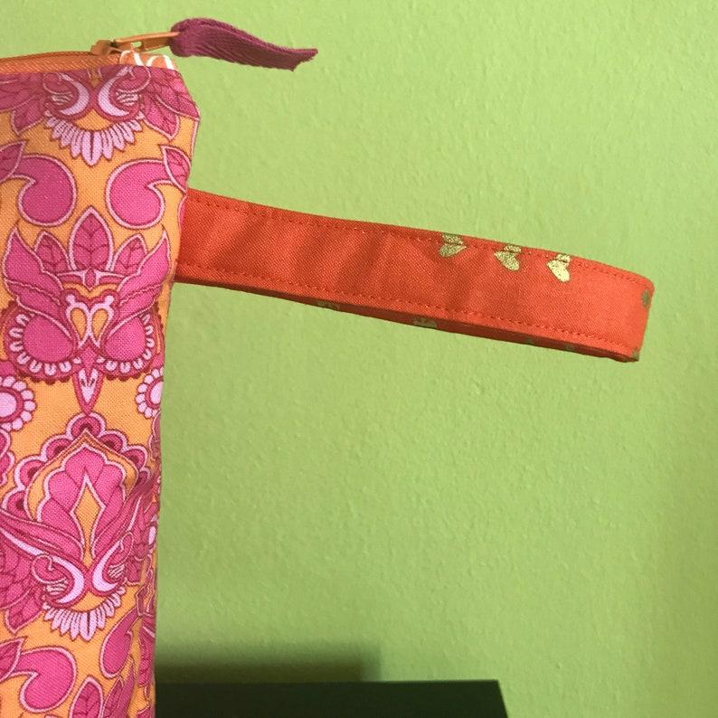 Large zipper pouch  zipper purse knitting project bag  crochet project bag handbag tulapink 11.5 x 7.5 x 9.5 x 3.5  *Tulapink Owls*
