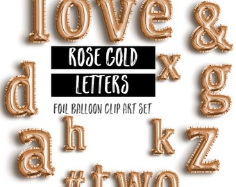 Gold Foil Mylar Balloon Lowercase Letter Clipart Gold Etsy