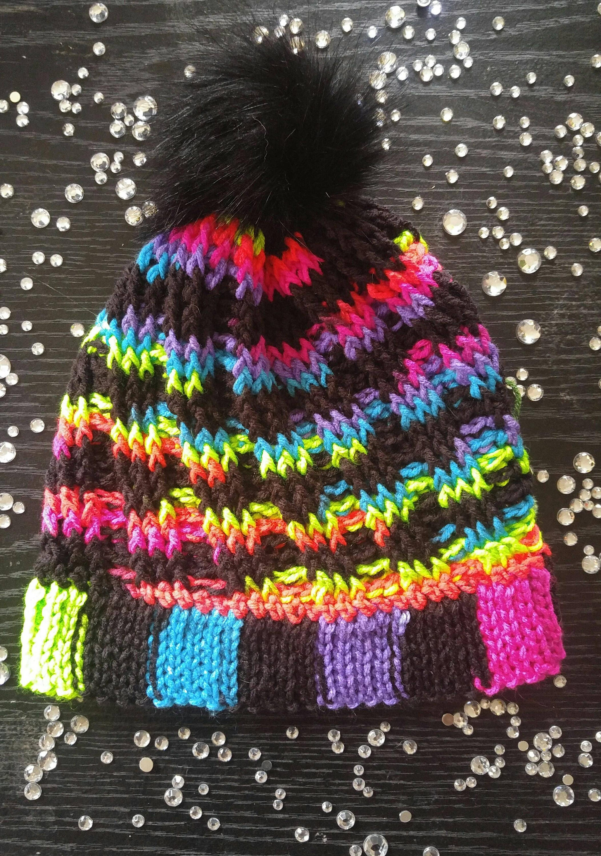 Dark Rainbow Winter Hat  661ec3c9aeb