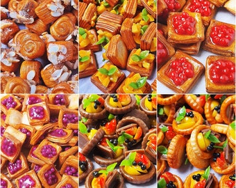 Dollhouse Miniatures Food Lot 10 Loose Sandwich Bread Bakery Fast Food 15850