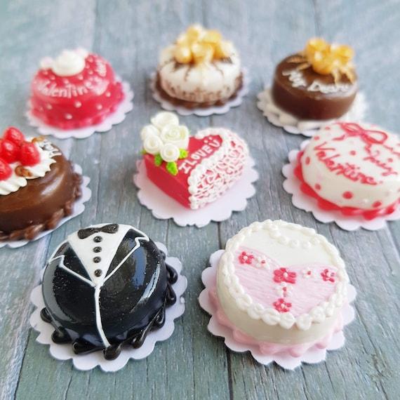 Valentinstag Dekoration Mini Kuchen Box Puppenhaus Miniatur Etsy