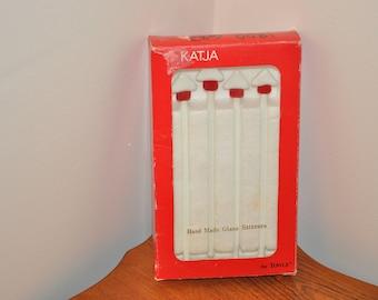 Vintage Katja Hand Made Glass Stir Sticks