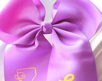 Geaux Tigers Hair Bow