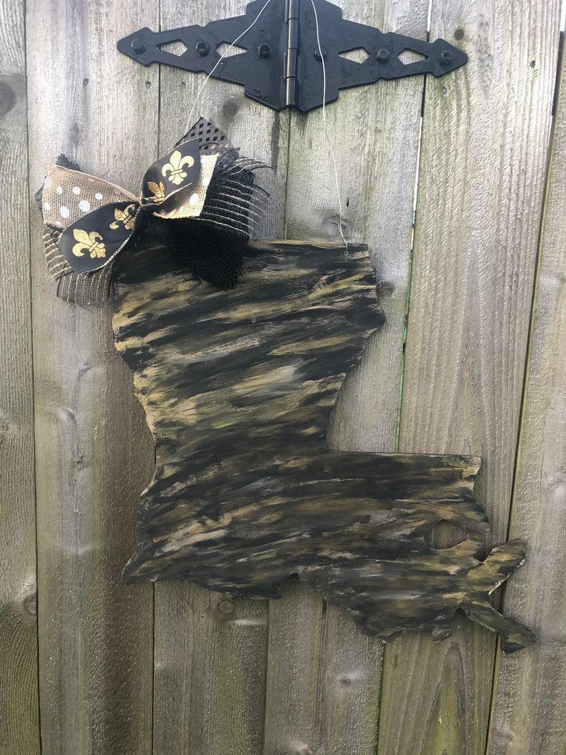 Louisiana Door Hanger New Orleans Door New Orleans Decor Etsy