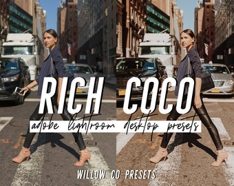 Coco Lightroom Presets / Warm Lifestyle Lightroom Presets / Photographer Preset for Photo Editing