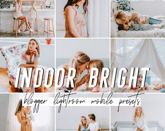 Indoor Mobile Lightroom Presets / Bright Mobile Presets / Blogger Preset for iPhone Android Photo Editing