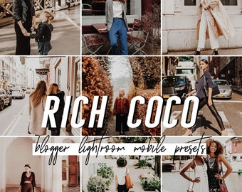 Coco Mobile Lightroom Presets / Warm Mobile Presets / Blogger Preset for iPhone Android Photo Editing