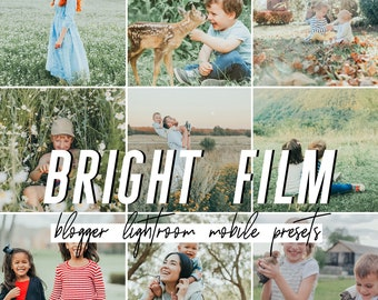 Bright Mobile Lightroom Presets / Film Mobile Presets / Blogger Preset for iPhone Android Photo Editing