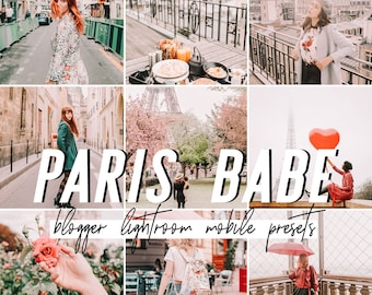Paris Mobile Lightroom Presets / Bright Warm Mobile Presets / Blogger Preset for iPhone Android Photo Editing