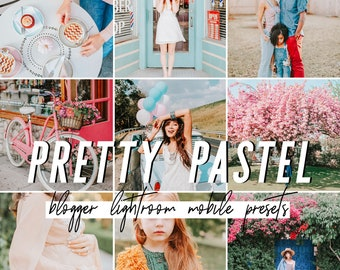 Pastel Mobile Lightroom Presets / Bright Mobile Presets / Blogger Preset for iPhone Android Photo Editing