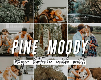 Pine Mobile Lightroom Presets / Warm Moody Mobile Presets / Blogger Preset for iPhone Android Photo Editing