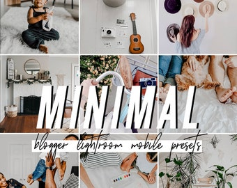 Minimal Mobile Lightroom Presets / Indoor Mobile Presets / Blogger Preset for iPhone Android Photo Editing