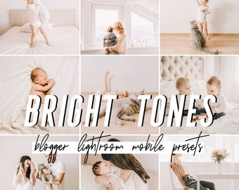 Bright Mobile Lightroom Presets / Mobile Presets / Blogger Preset for iPhone Android Photo Editing