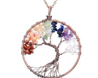 7 Chakra Tree of Life Necklace & Pendant