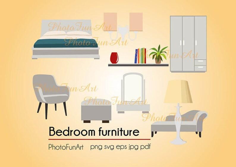 Furniture Svg Clipart Bedroom Furniture Vector Design Art Png Etsy