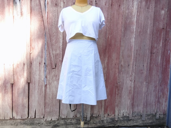 vintage Gap midi skirt // vintage powder blue midi