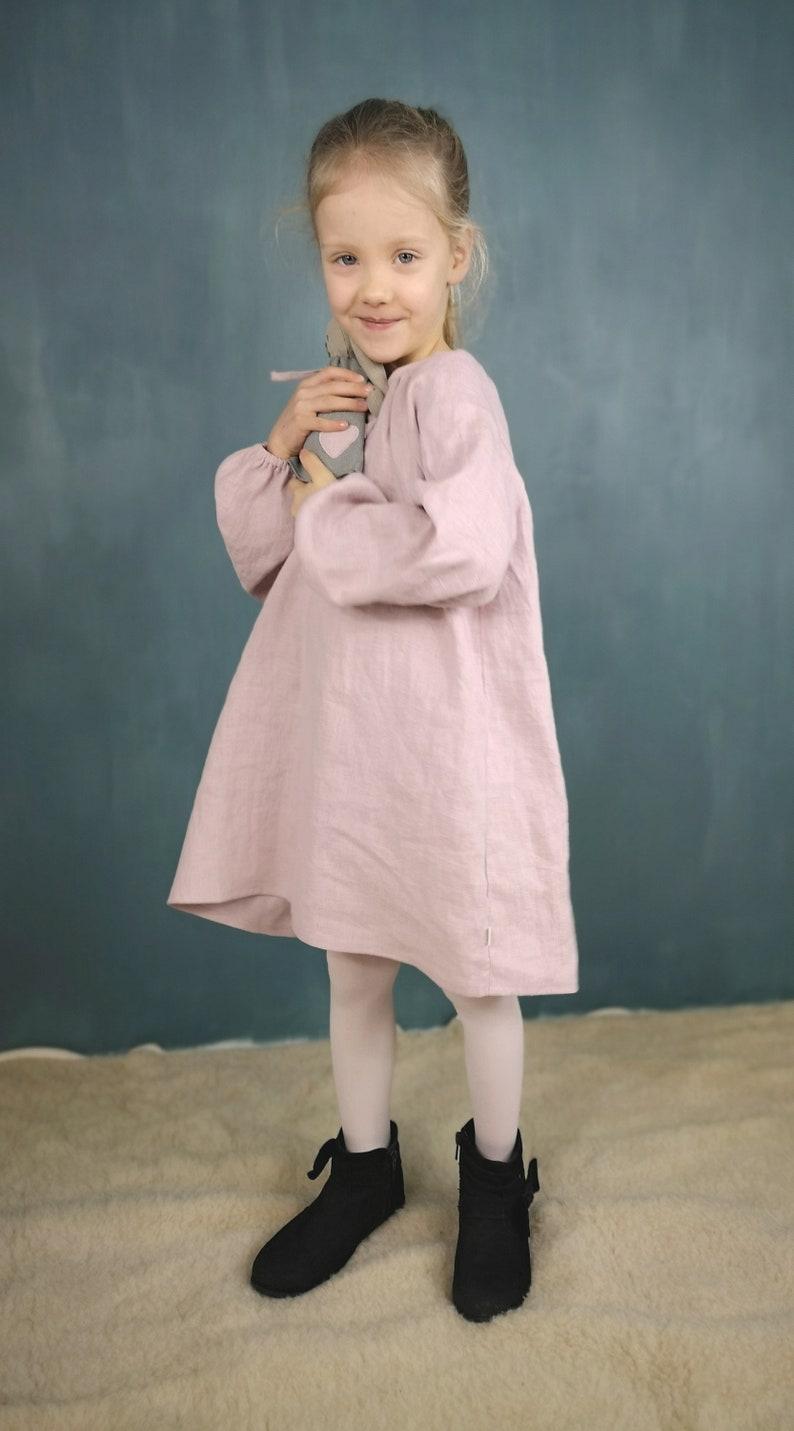 1d4f4366d514 Linen dress for girl/ linen girl dress/ linen kids clothing/ | Etsy