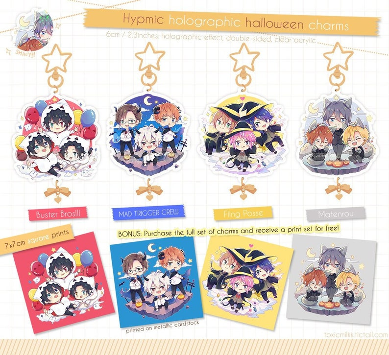 9a0bf4d54ee5 Hypnosis Mic Holographic Halloween Charms & Prints   Etsy