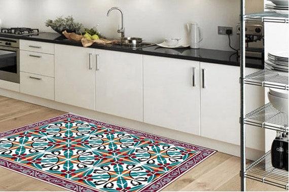 Keuken tapijt vinyl vloermatten met tegels pvc rug.vinyl etsy
