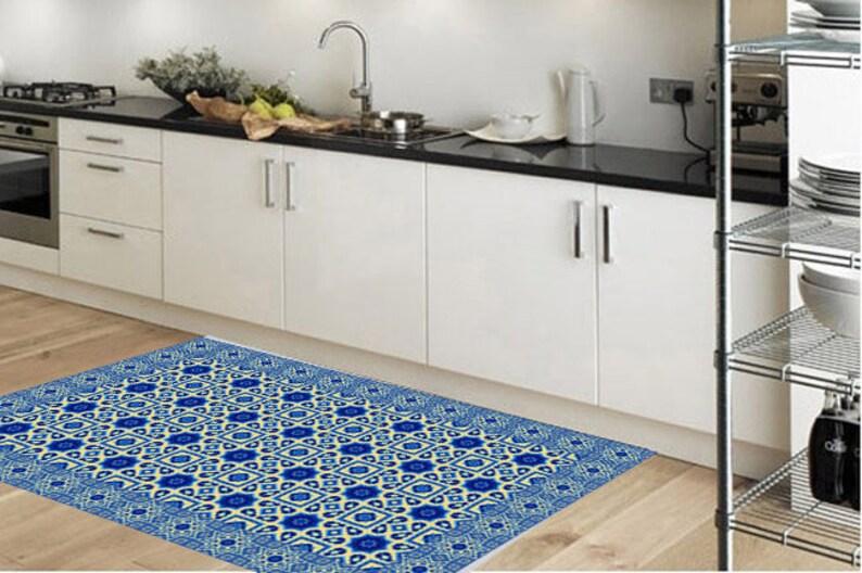 Küche Teppich - Boden Läufer - Bereich Teppich - Küche Dekor-Küche Matte-  Boden Teppich-PVC Teppich-Linoleum Teppich-Türmatte-Küche-Läufer - ...