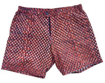 African unisex shorts with wax print // summer shorts; kitenge shorts in ankara style, men, women and kids