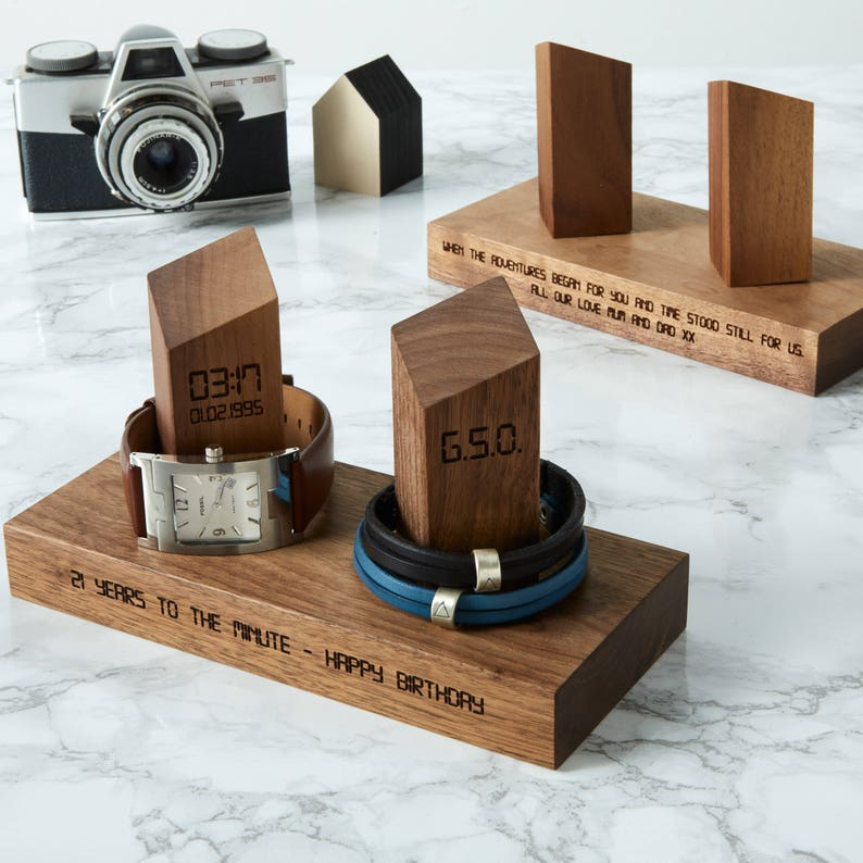 Personalised Watch and Bracelet Stand / Gift for Him / image 0