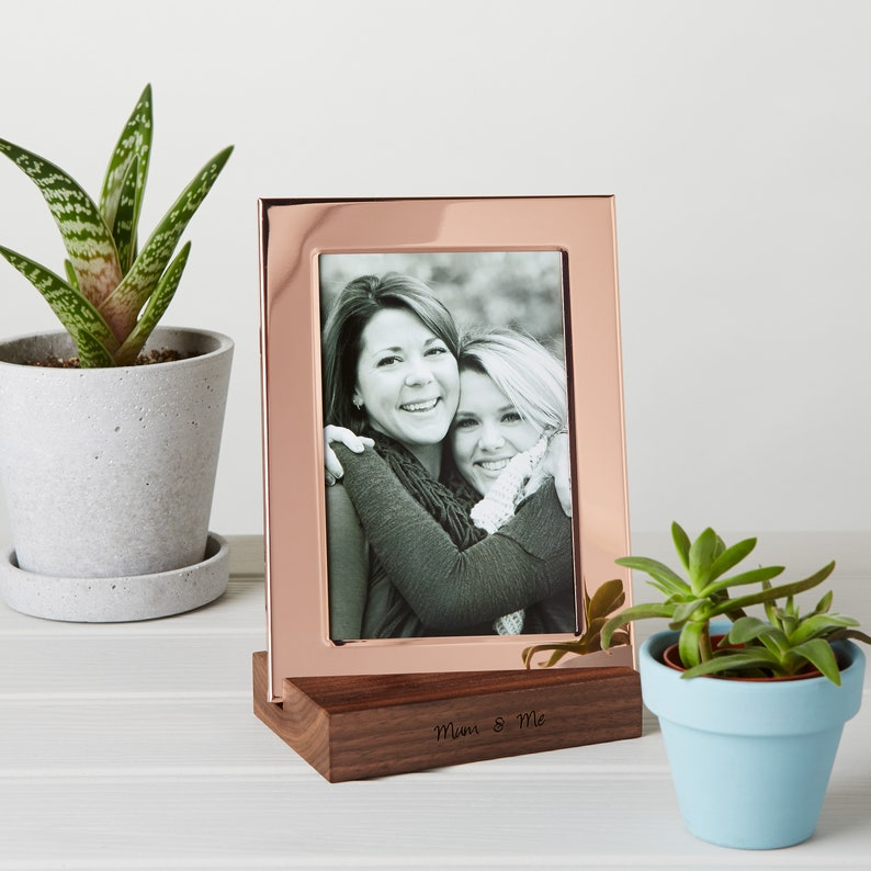Copper Photo Frame With Personalised Stand / Mother's Day image 0