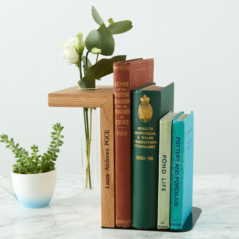 Solid Oak Personalised Bookend