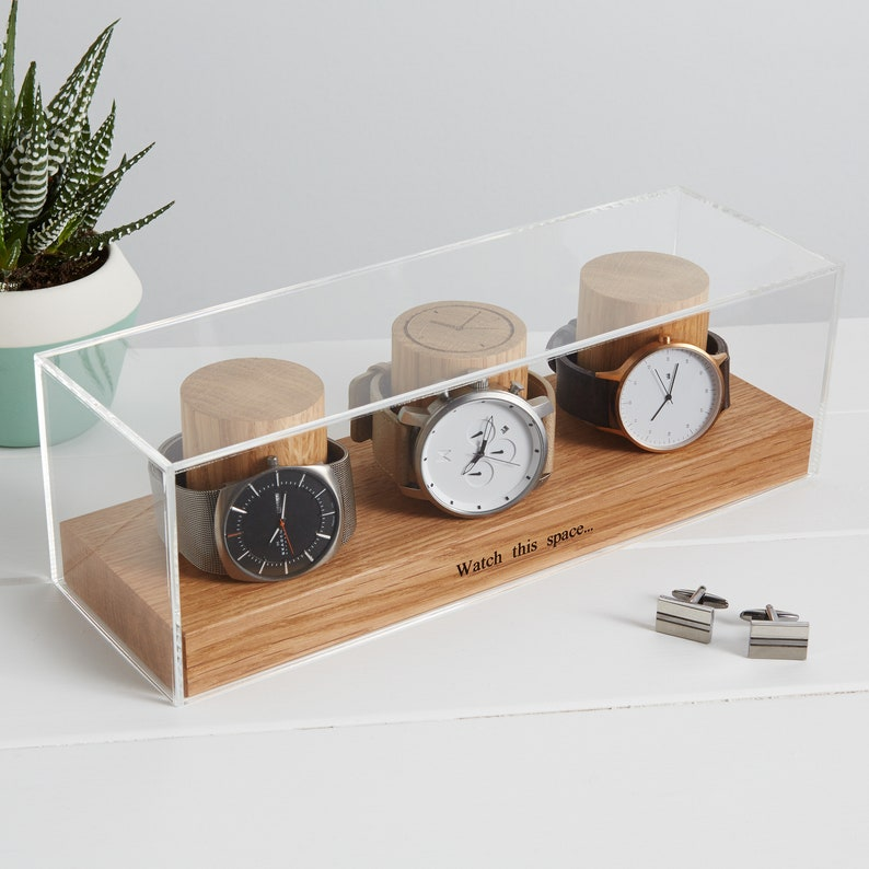 Watch Box for Three Watches / Personalised Watch Storage / image 0
