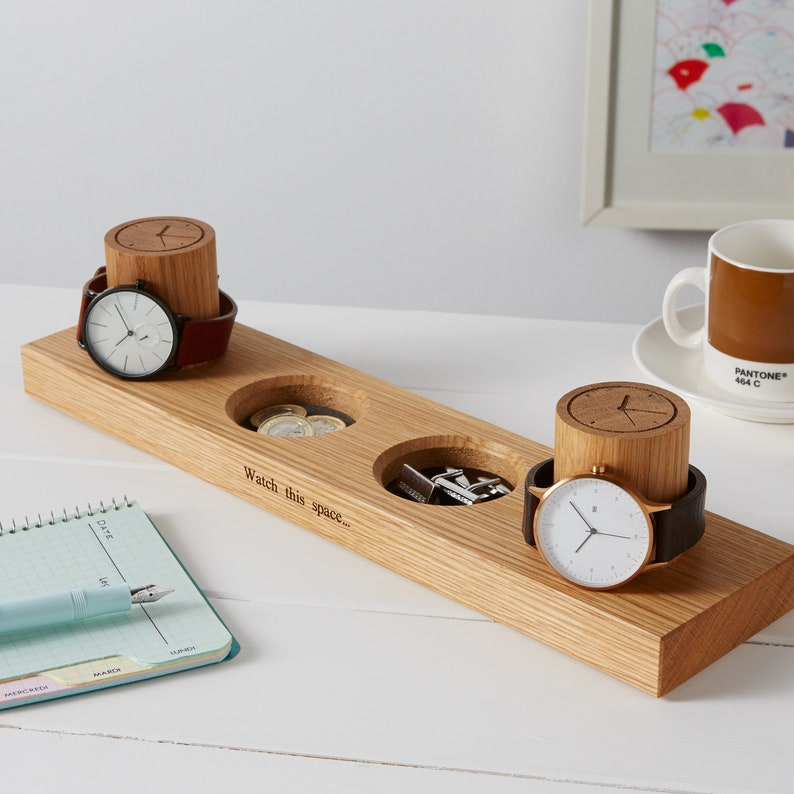 Two Watch Stand and Two Cufflink Tray / Ring Tray / image 0
