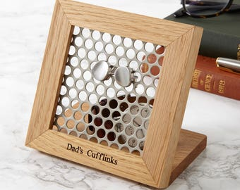 Hive Personalised Cufflink Stand / Jewellery Storage / Gifts for Him / Personalized Father's Day Gift