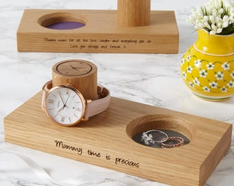 Personalised Ladies Wooden Jewellery Stand / Gifts For Her / Watch Storage for Her / Jewellery Display Stand / Gifts for Mum